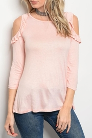 Sweet Claire Pink Ruffle Tee - Product Mini Image