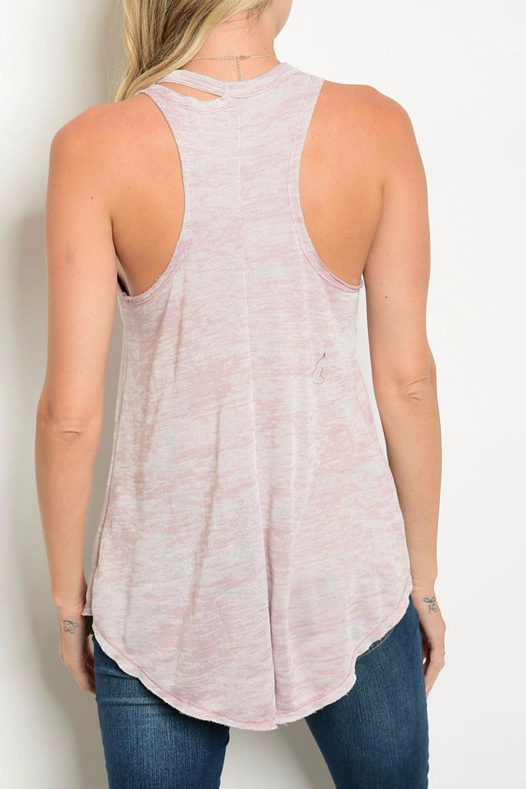 Sweet Claire Pink Wash Tank Top - Front Full Image
