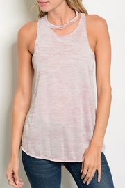 Sweet Claire Pink Wash Tank Top - Product Mini Image