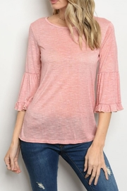 Sweet Claire Ruffle Sleeve Top - Product Mini Image