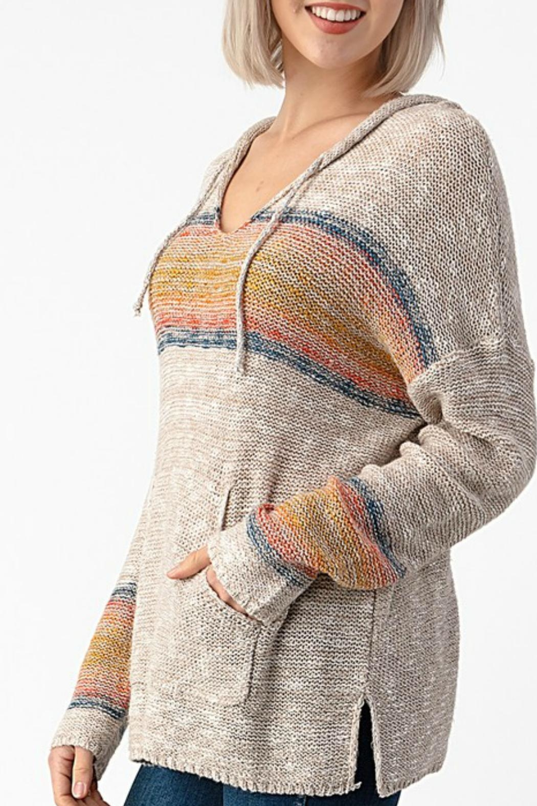 Sweet Claire Seaside Beach Hoodie - Front Full Image