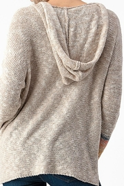 Sweet Claire Seaside Textured Hoodie - Front full body