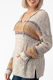 Sweet Claire Seaside Textured Hoodie - Side cropped