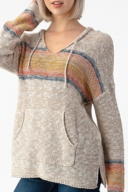 Sweet Claire Seaside Textured Hoodie - Front cropped