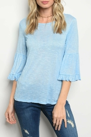 Sweet Claire Sky Blue Top - Product Mini Image