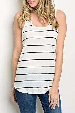 Sweet Claire White Stripe Tank - Product List Image