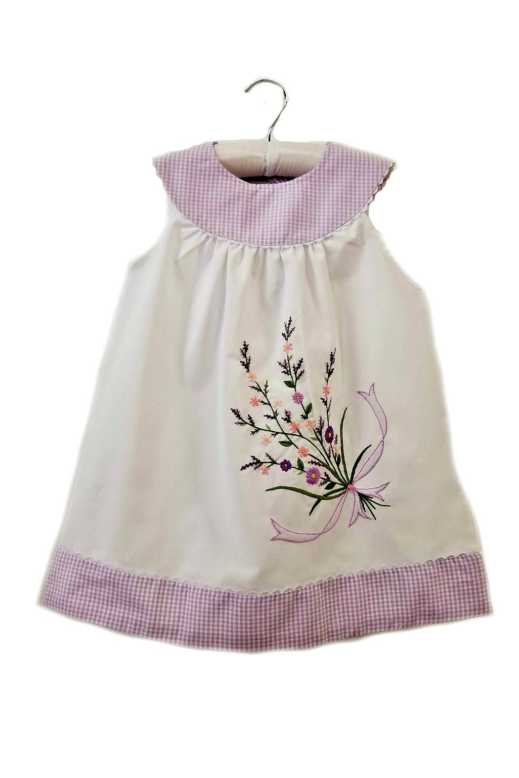 Sweet Dreams Lavender Floral-Embroidered Dress - Main Image