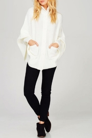 Sweet Generis Knit Cape Cardigan - Front cropped
