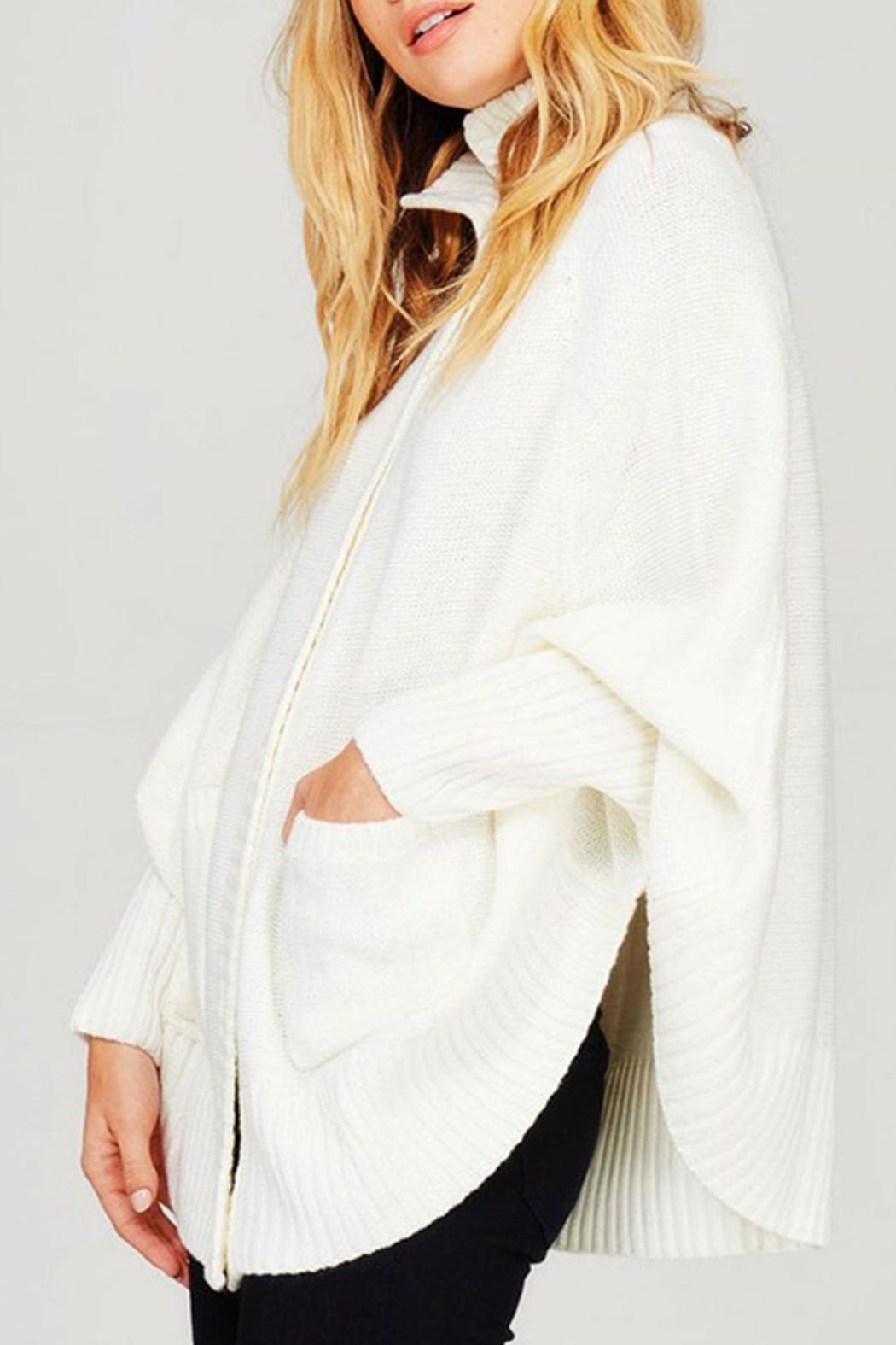 Sweet Generis Knit Cape Cardigan - Side Cropped Image