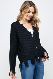 Sweet Generis Knit Frayed Cardigan - Product Mini Image