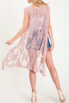 Sweet Generis Lace Duster Vest - Alternate List Image