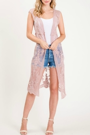 Sweet Generis Lace Duster Vest - Product Mini Image