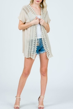 Sweet Generis Lace-Trimmed Wrap Top - Product List Image