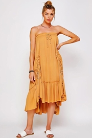 Sweet Generis Ruched Cinched And Pleated Convertible Skirt Dress - Front full body