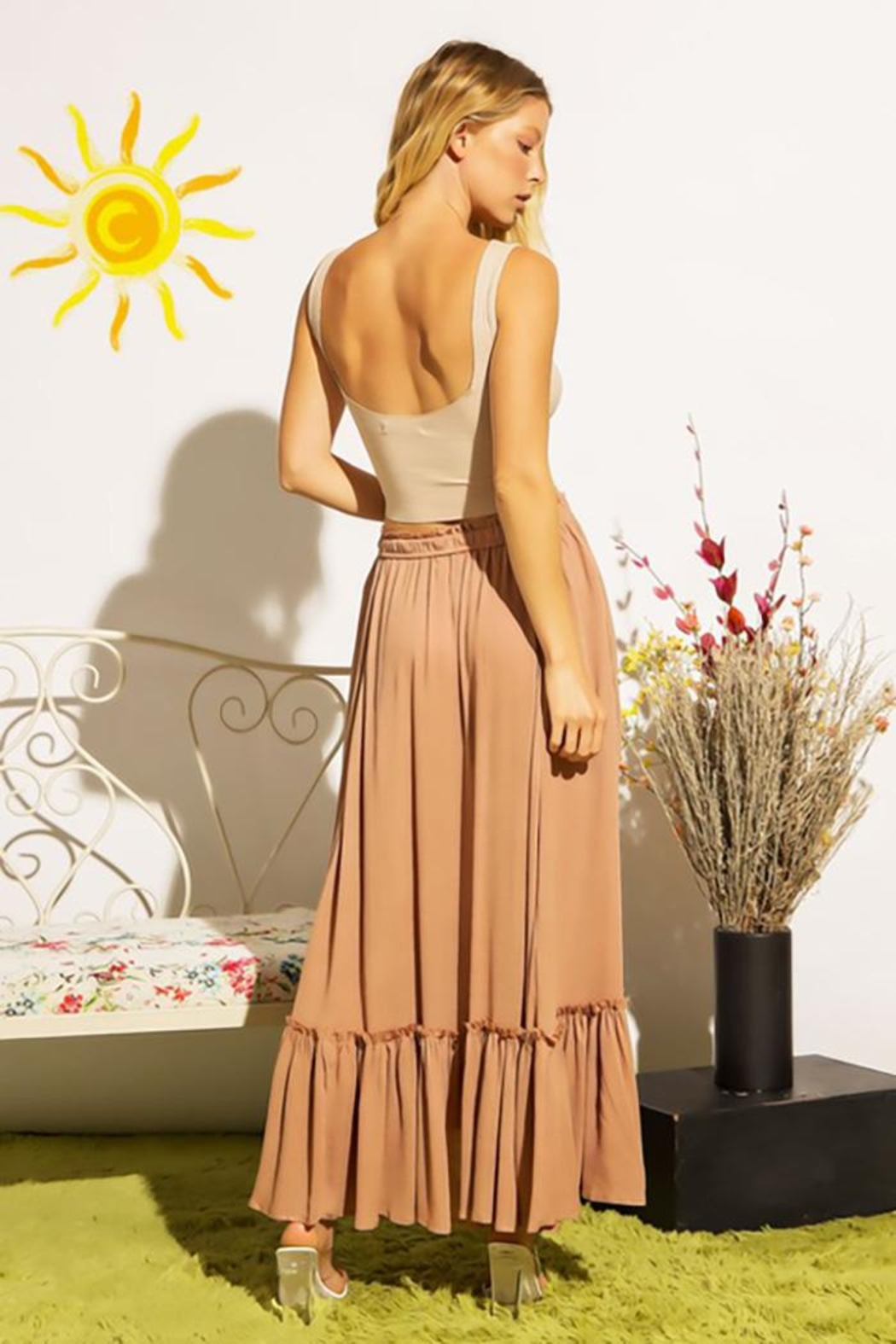 Sweet Generis Ruched Cinched And Pleated Convertible Skirt Dress - Side Cropped Image