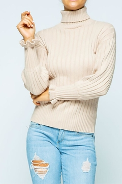 Sweet Generis Ruffle-Sleeve Turtleneck - Product List Image