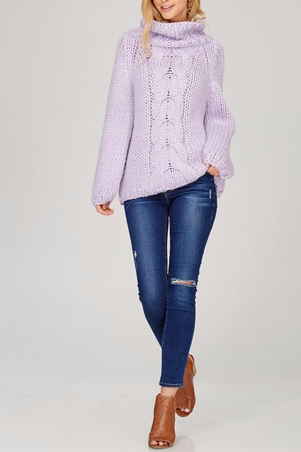 Sweet Journey Chunky Knit Sweater - Side Cropped Image