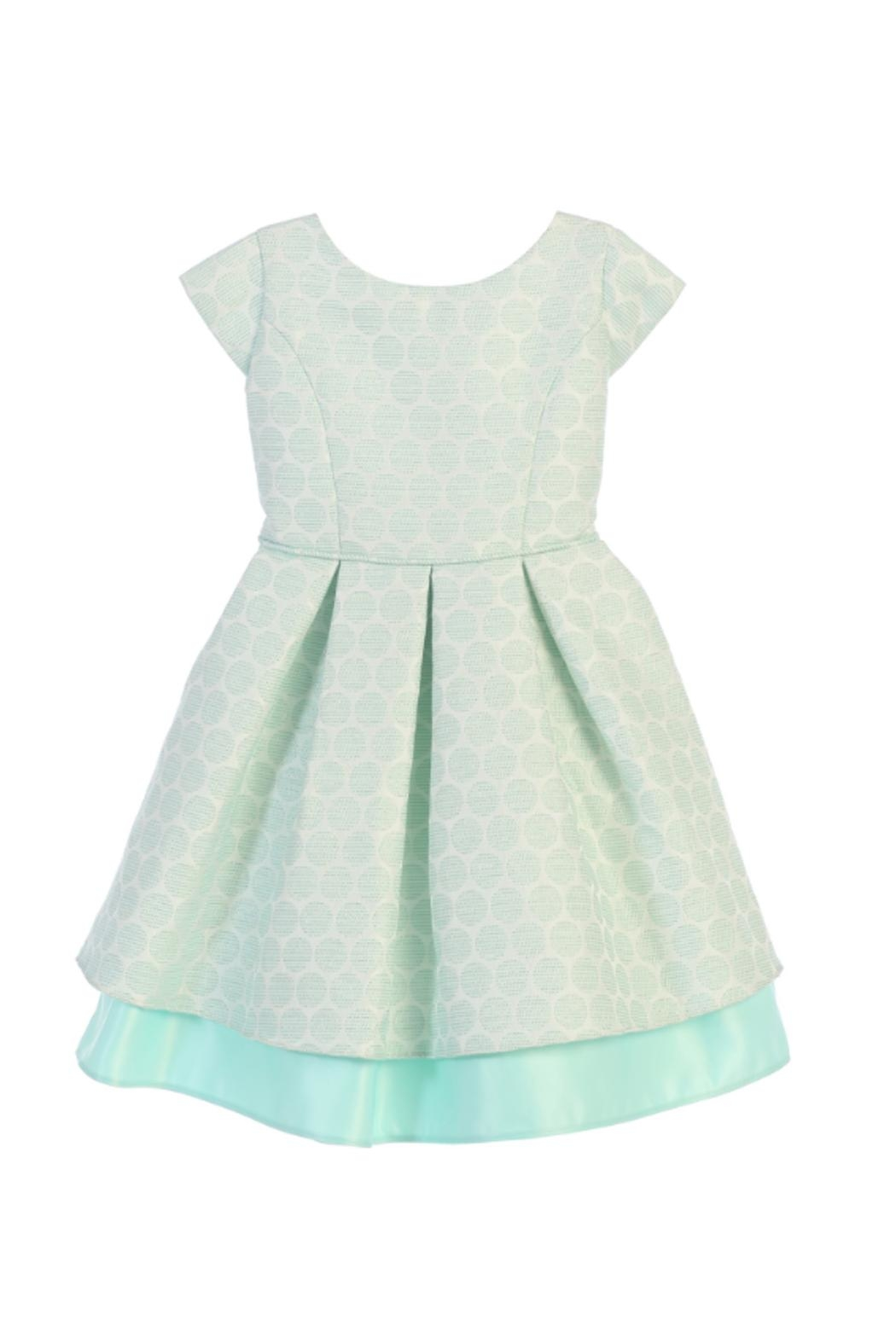 Sweet Kids Polkadot Pleated Dress - Main Image