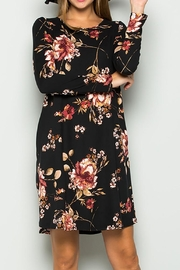 Sweet Lovely Black Floral Dress - Front cropped