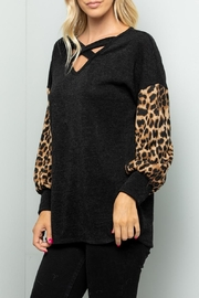 Sweet Lovely Black V-Neck Top - Side cropped