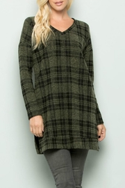 Sweet Lovely Brushed Plaid Tunic - Product Mini Image