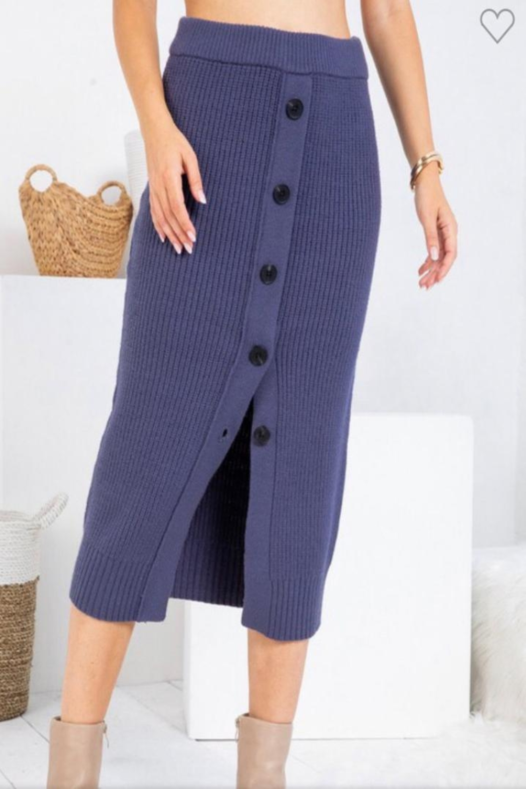 Sweet Lovely Button Front Midi - Main Image