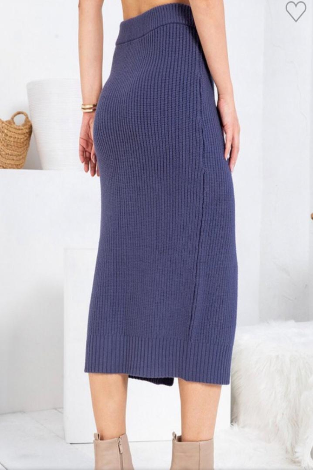 Sweet Lovely Button Front Midi - Front Full Image