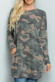 Sweet Lovely Camouflage Tunic Top - Product Mini Image