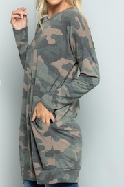 Sweet Lovely Camouflage Tunic Top - Front full body