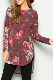 Sweet Lovely Floral Tunic Top - Product Mini Image