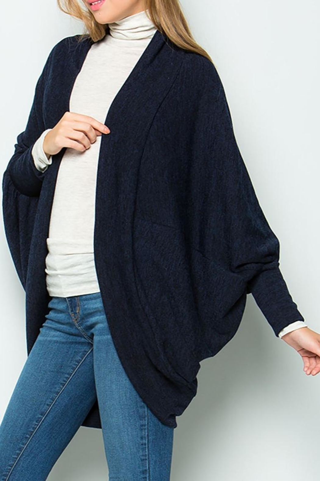 Sweet Lovely Knit Jersey Cardigan - Main Image