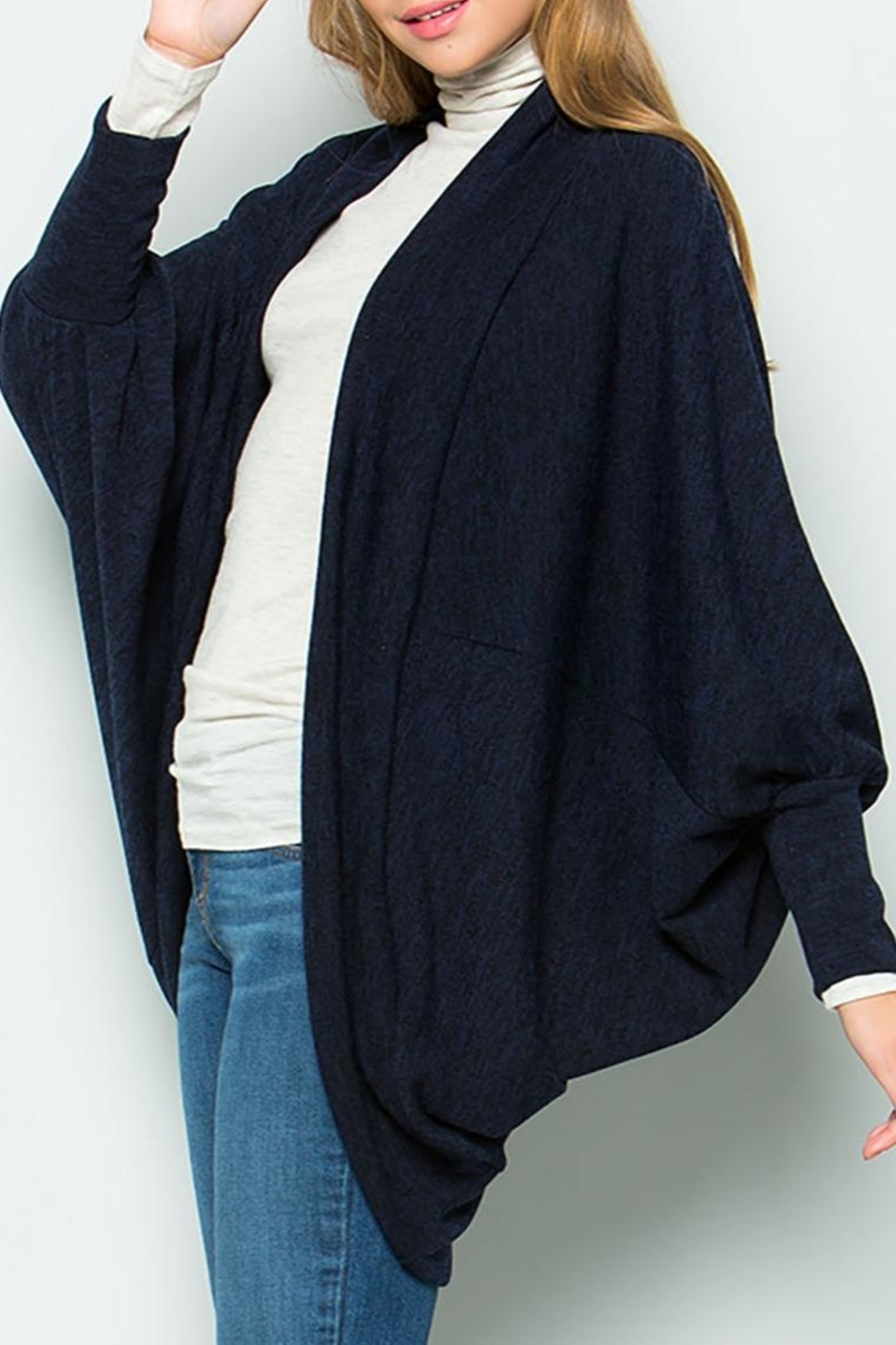 Sweet Lovely Knit Jersey Cardigan - Front Full Image