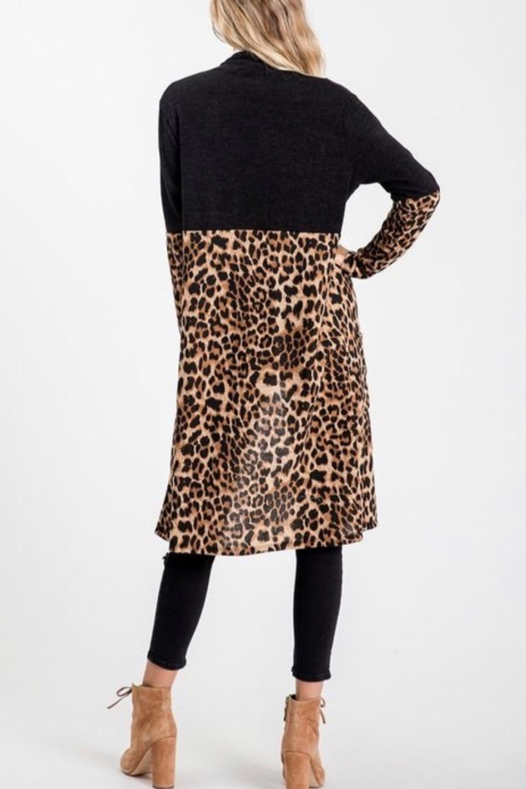 Sweet Lovely Leopard Cardigan - Front Full Image