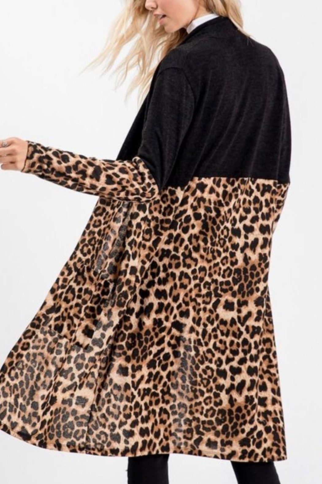 Sweet Lovely Leopard Cardigan - Side Cropped Image
