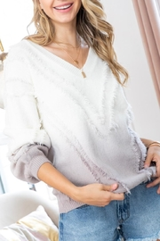 Sweet Lovely Ombre Fringe Sweater - Side cropped