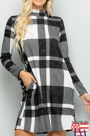Sweet Lovely Plaid Print Dress - Product Mini Image