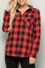 Sweet Lovely Red Plaid Top - Product Mini Image