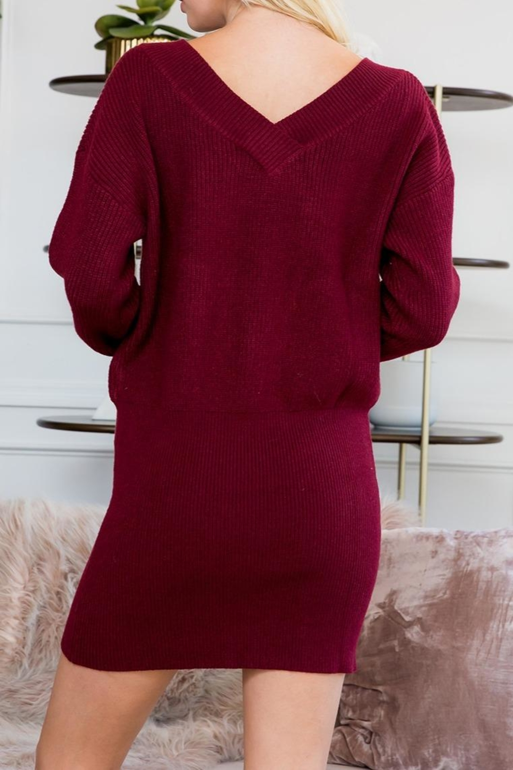 Sweet Lovely Tunic Sweater Dress - Side Cropped Image