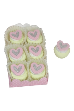 Shoptiques Product: Pink Heart Doll Cupcake