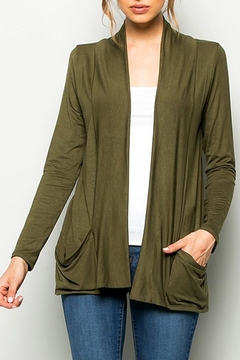 Sweet Pea Lightweight Jersey Cardigan - Product List Image