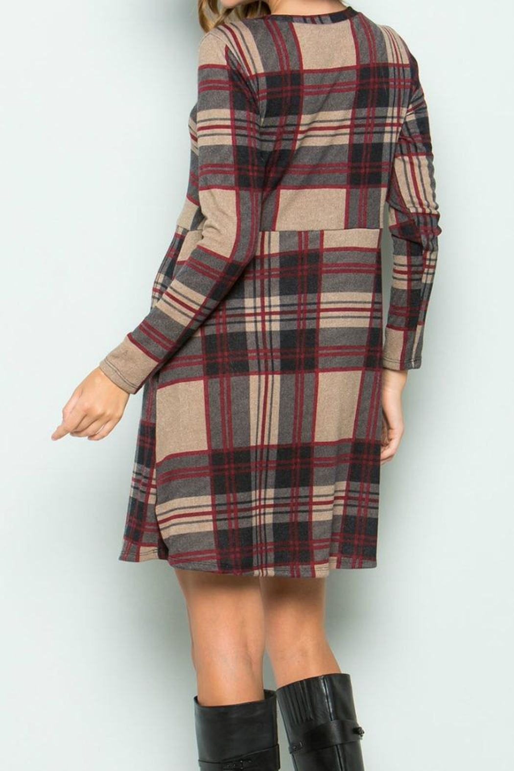 Sweet Pea Plaid Dress - Front Full Image