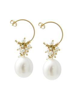 Shoptiques Product: Gold Pearl Earrings