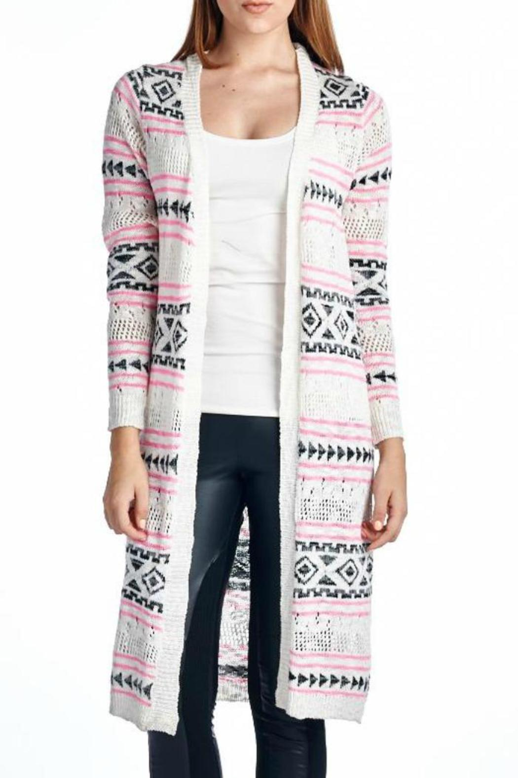 Sweet Rain Long Printed Cardigan from Michigan by Che Bello ...