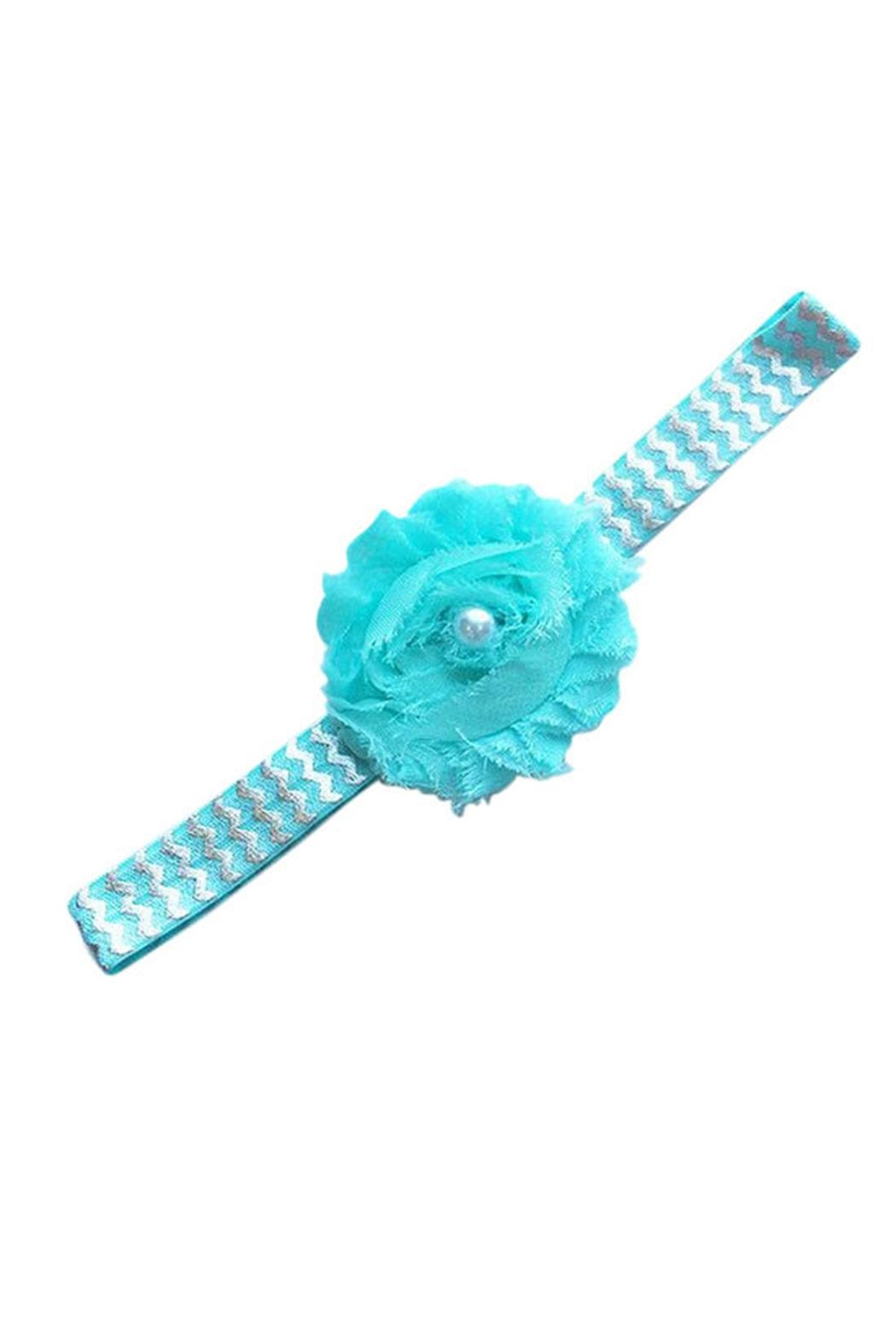 Sweet Seraphina Aqua Rose Headband - Main Image