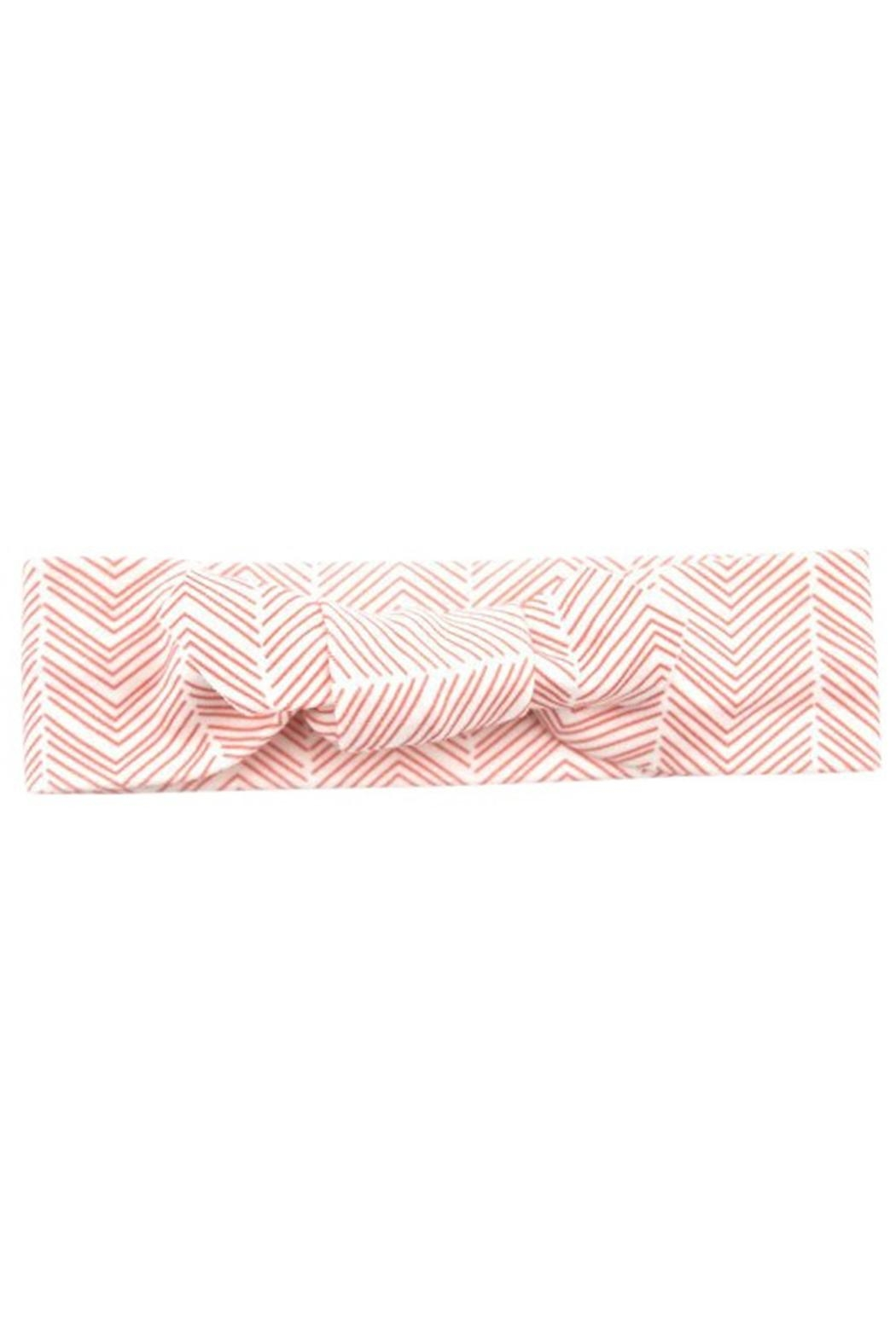 Sweet Seraphina Coral Herringbone Headband - Front Cropped Image