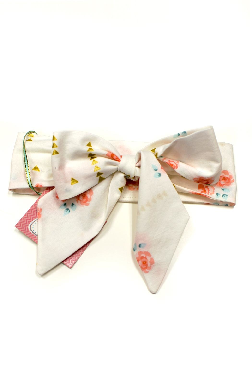 Sweet Seraphina Fabric Bow Headwrap - Front Cropped Image