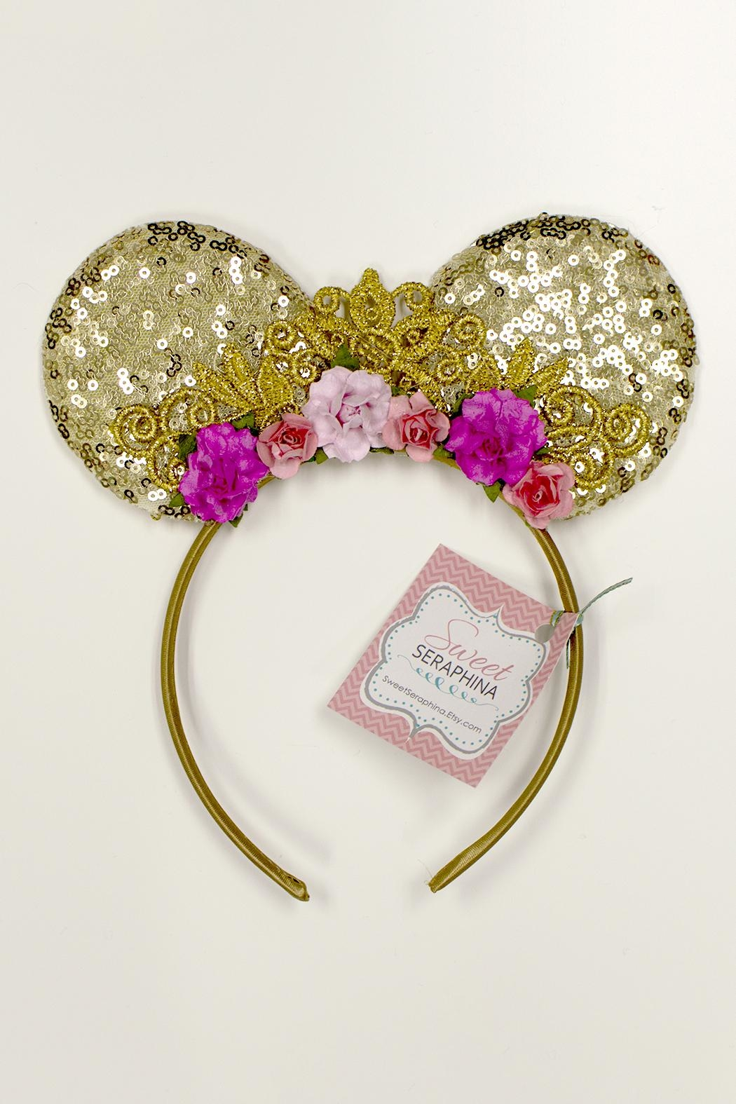 Sweet Seraphina Sequined Minnie Ears - Main Image