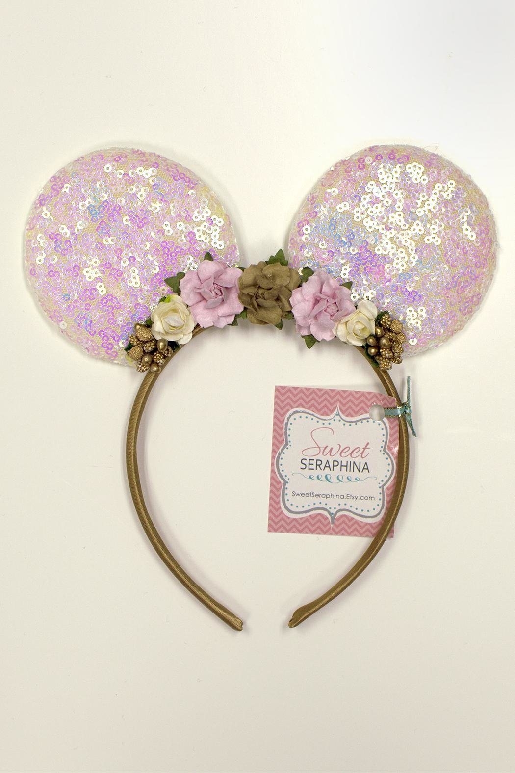 Sweet Seraphina Sequined Minnie Ears - Front Cropped Image