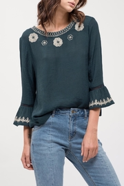 Sweet Wanderer Floral Embroidery Blouse - Product Mini Image