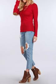 Sweet Wanderer Lace Up Elbow Patch - Front full body